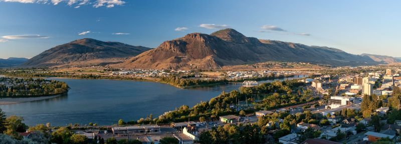 City and lake view of Kamloops